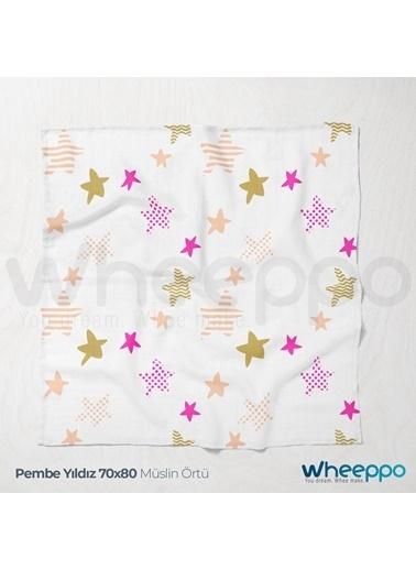 Wheeppo Pembe YıldızMüslin Örtü  70*80 Cm Renkli